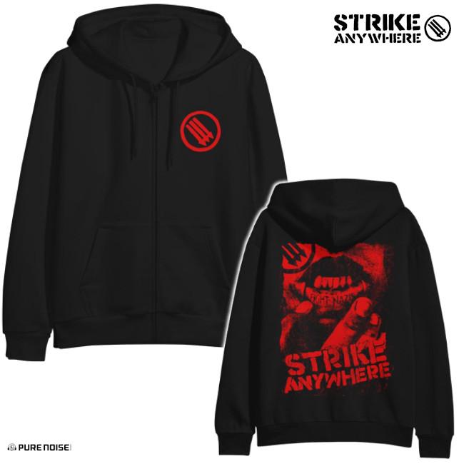 Strike Anywhere / ストライク・エニウェア - Fight Nazis ジップアップパーカー(ブラック)