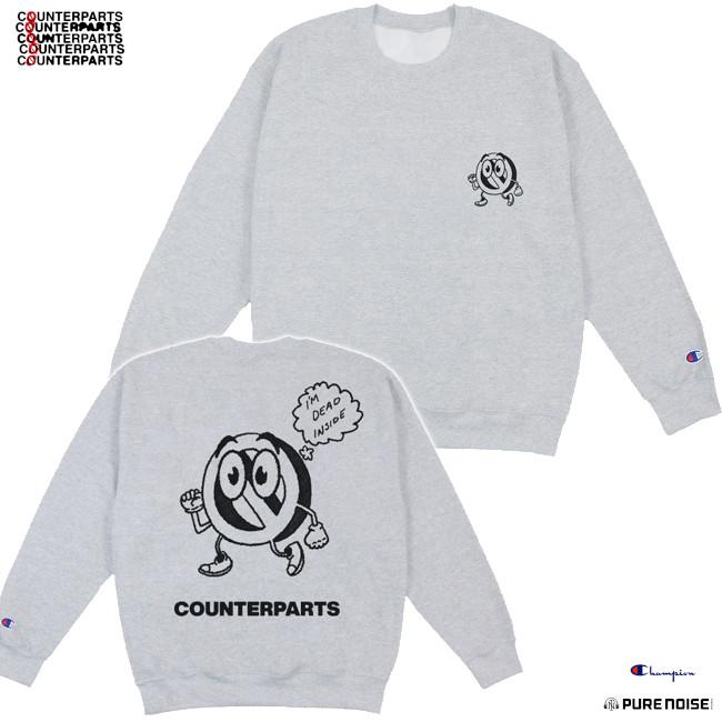 Counterparts / カウンターパーツ - Dead Inside クルーネック・トレーナー・スウェットシャツ(グレー)