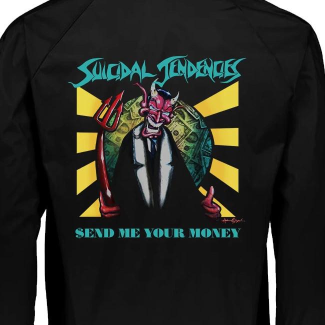 【期間限定】Suicidal Tendencies /スイサイダル・テンデンシーズ - Send Me Your Money コーチジャケット(ブラック)