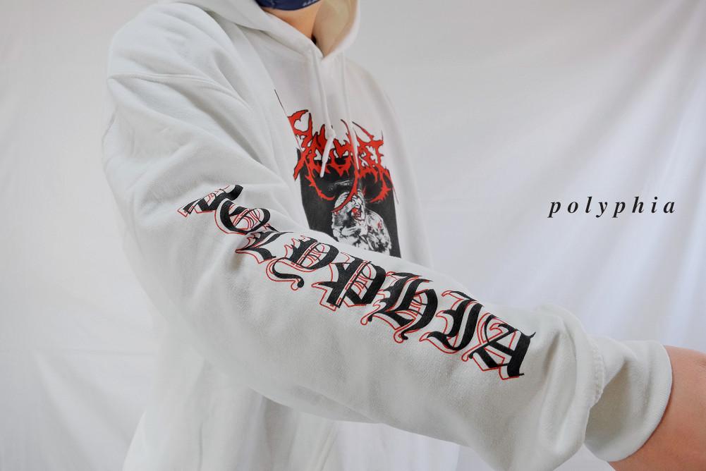 【即納】Polyphia/ポリフィア - White Tiger プルオーバーパーカー(ホワイト)※廃盤