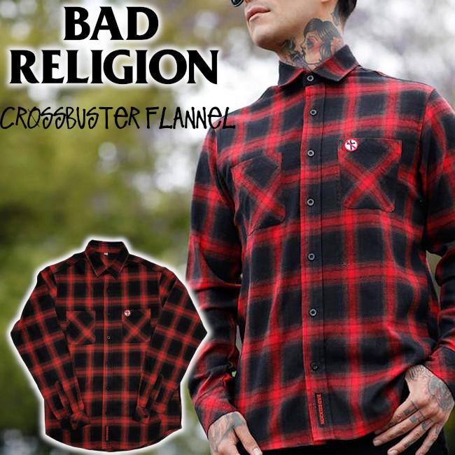 Bad Religion / バッド・レリジョン - Big Crossbuster フランネル・シャツ(レッド)