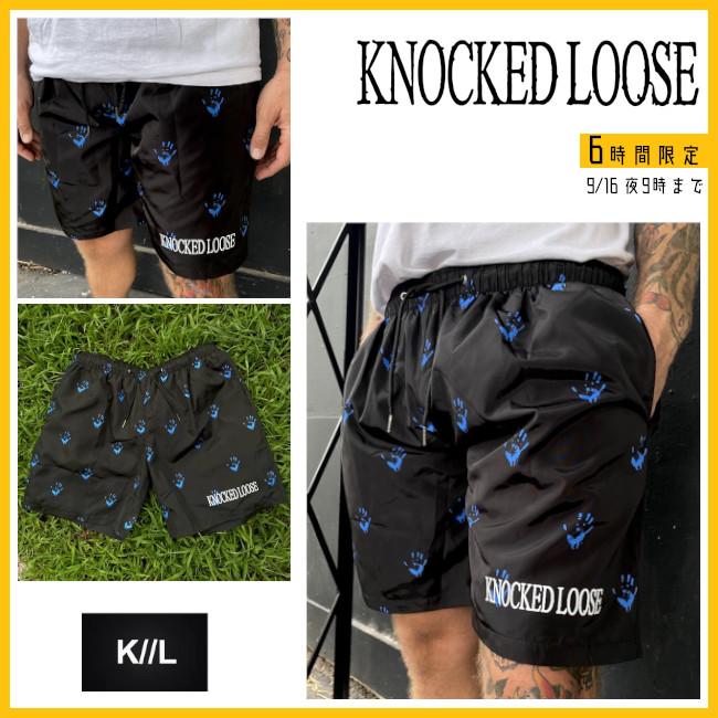 【6時間限定】Knocked Loose / ノックド・ルース -   Athletic カスタム・ショーツ・ハーフパンツ(ブラック)【今夜9時終了】