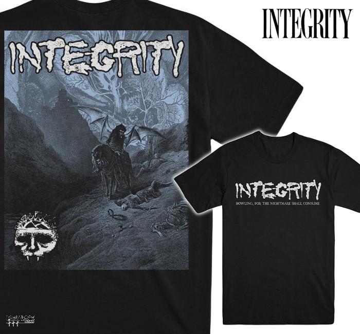 INTEGRITY /インテグリティ - HOWLING COVER Tシャツ(ブラック)