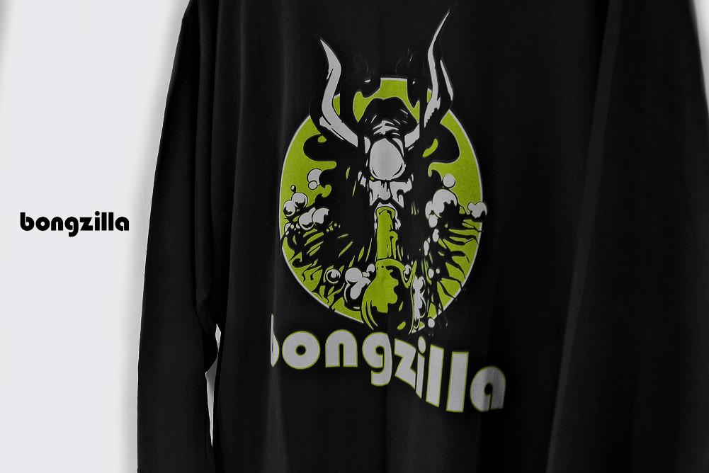 【即納】Bongzilla / ボングジラ - Wizard ロングスリーブ・長袖シャツ(ブラック)