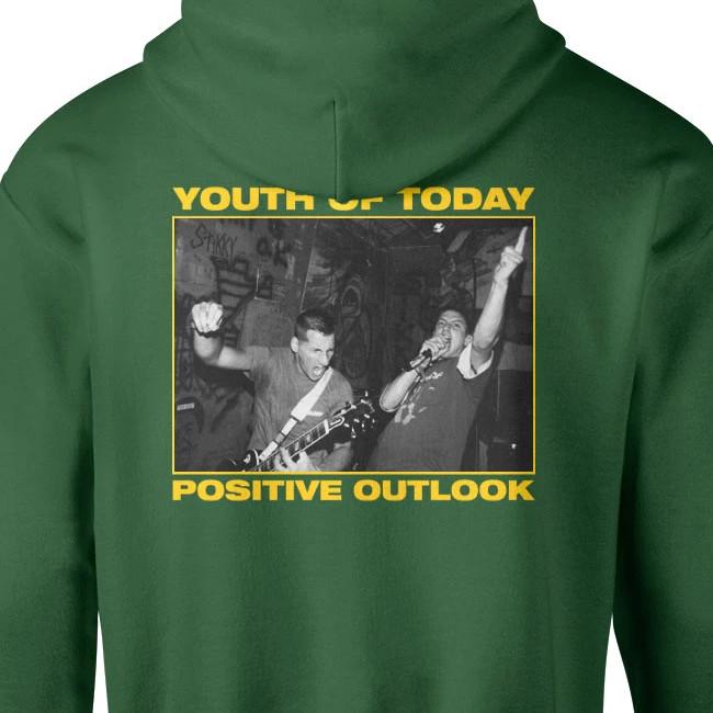 【限定】Youth Of Today / ユース・オブ・トゥデイ - POSITIVE OUTLOOK プルオーバーパーカー(グリーン)