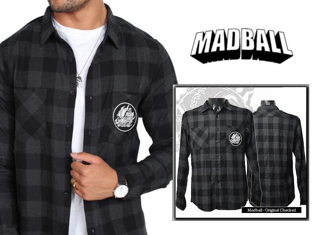 Madball / マッドボール - Original Checked Flanell  フランネル・シャツ(ブラック)