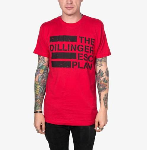Dillinger Escape Plan/デリンジャー・エスケイプ・プラン - Logo Tシャツ(6カラー)全サイズ復活