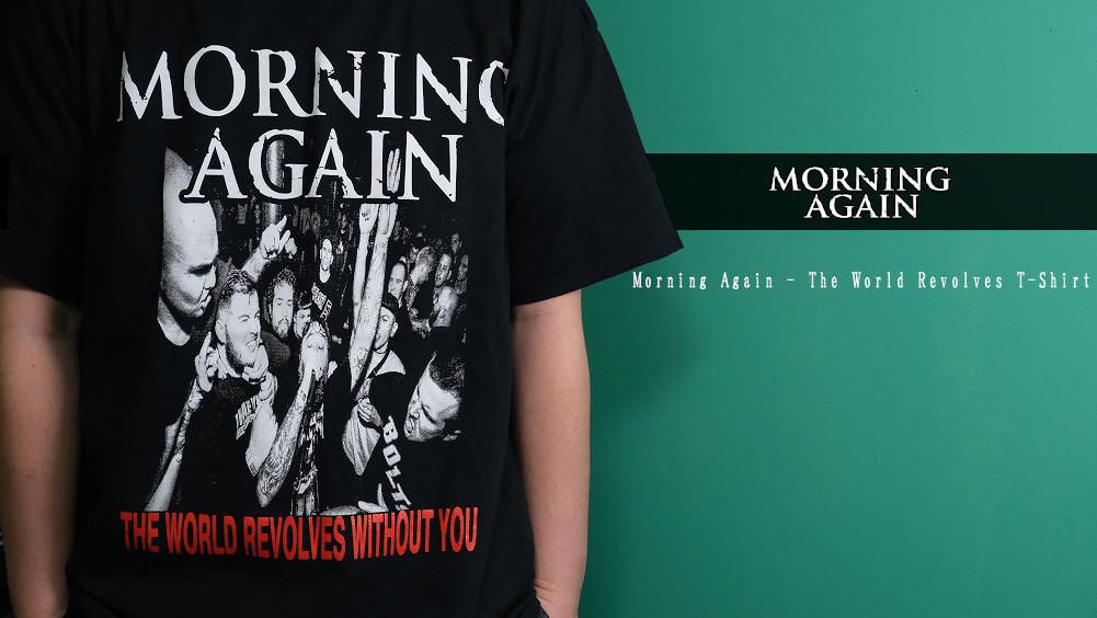 【即納】Morning Again / モーニング・アゲイン - The World Revolves Tシャツ(ブラック)