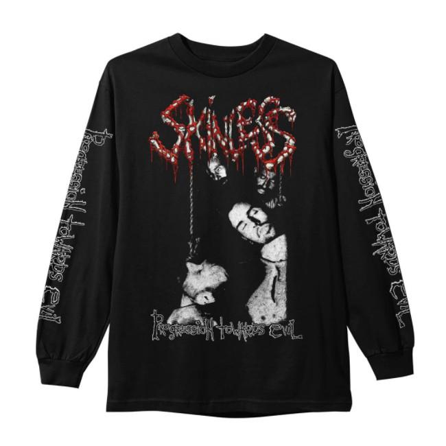 Skinless / スキンレス - Progression Towards Evil ロングスリーブ・長袖シャツ(ブラック)