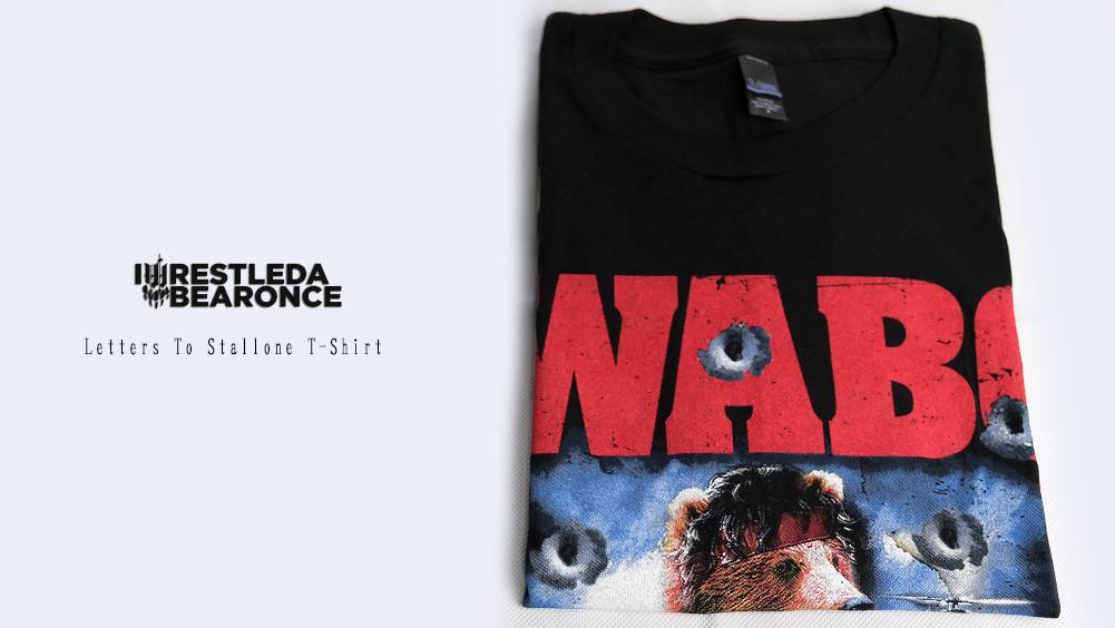 【即納】Iwrestledabearonce - Letters To Stallone Tシャツ (ブラック)