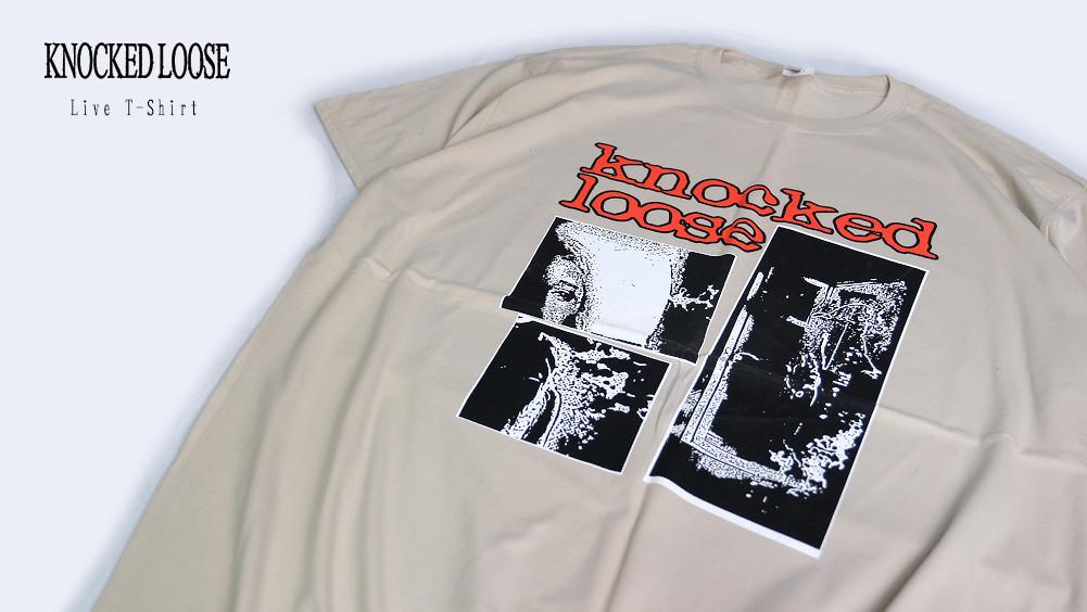 【即納】Knocked Loose /ノックド・ルーズ - Live Tシャツ(ナチュラル/タン)