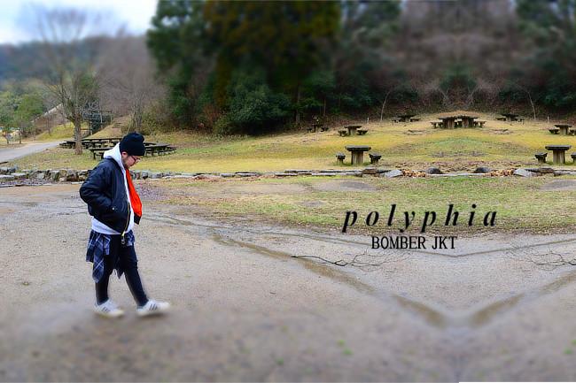 Polyphia/ポリフィア - David ボンバージャケットMA-1 (ブラック)※復活