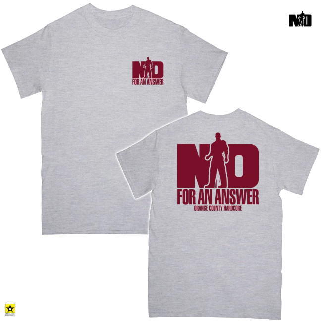 No For An Answer / ノー・フォー・アン・アンサー - ORANGE COUNTY HARDCORE Tシャツ(グレー)