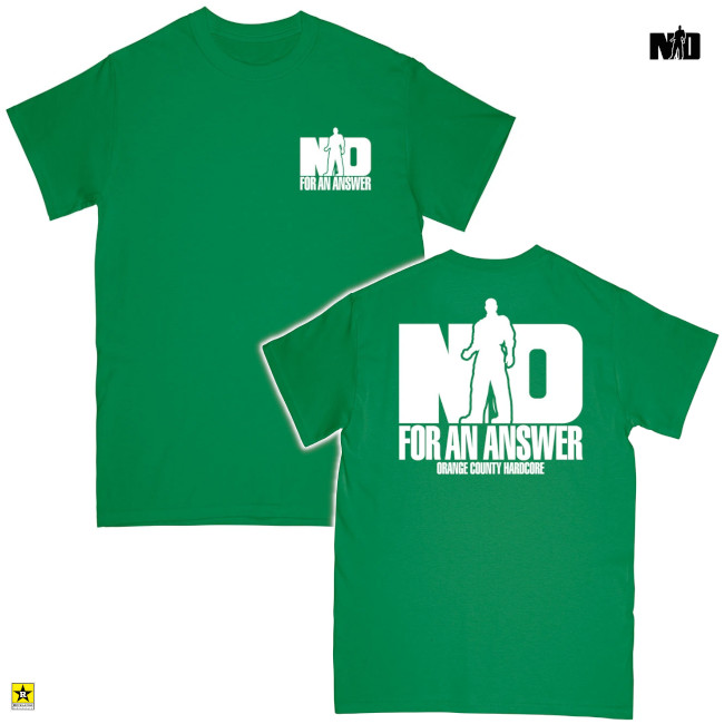 No For An Answer / ノー・フォー・アン・アンサー - ORANGE COUNTY HARDCORE Tシャツ(グリーン)