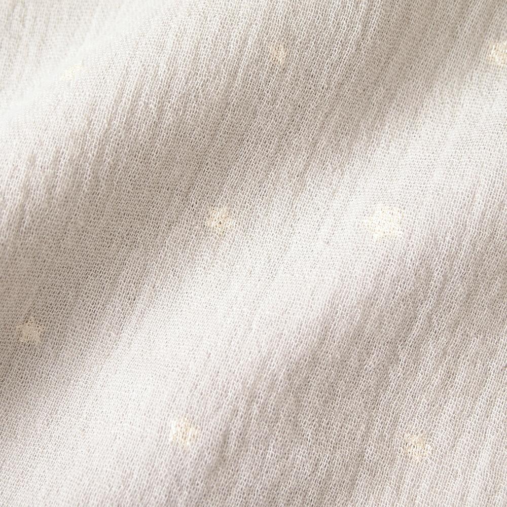 前開きロンパース グレー 60cm・70cm / 10mois(ディモワ)
