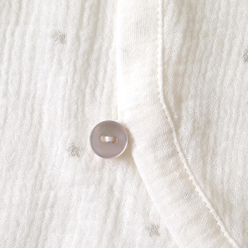 前開きロンパース ホワイト 60cm・70cm / 10mois(ディモワ)