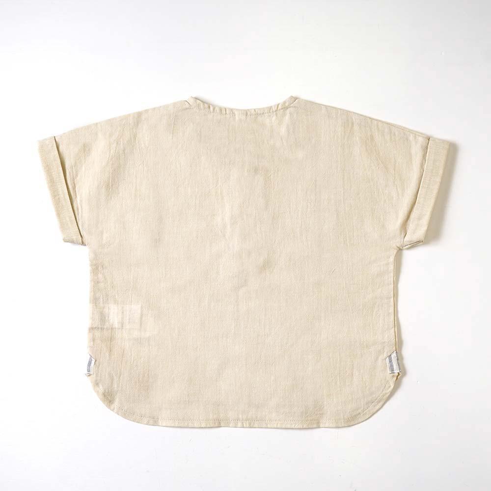 ドロップスリーブシャツ サンドベージュ 80cm・90cm / 10mois(ディモワ)