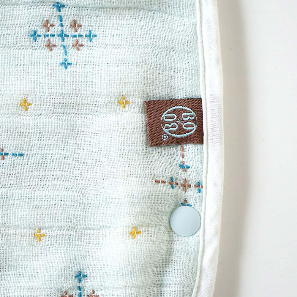 コットン×シルク スリーパー  トドラー・キッズサイズ ふくふくガーゼ(6重ガーゼ)/ BOBO / 名入れ刺繍可
