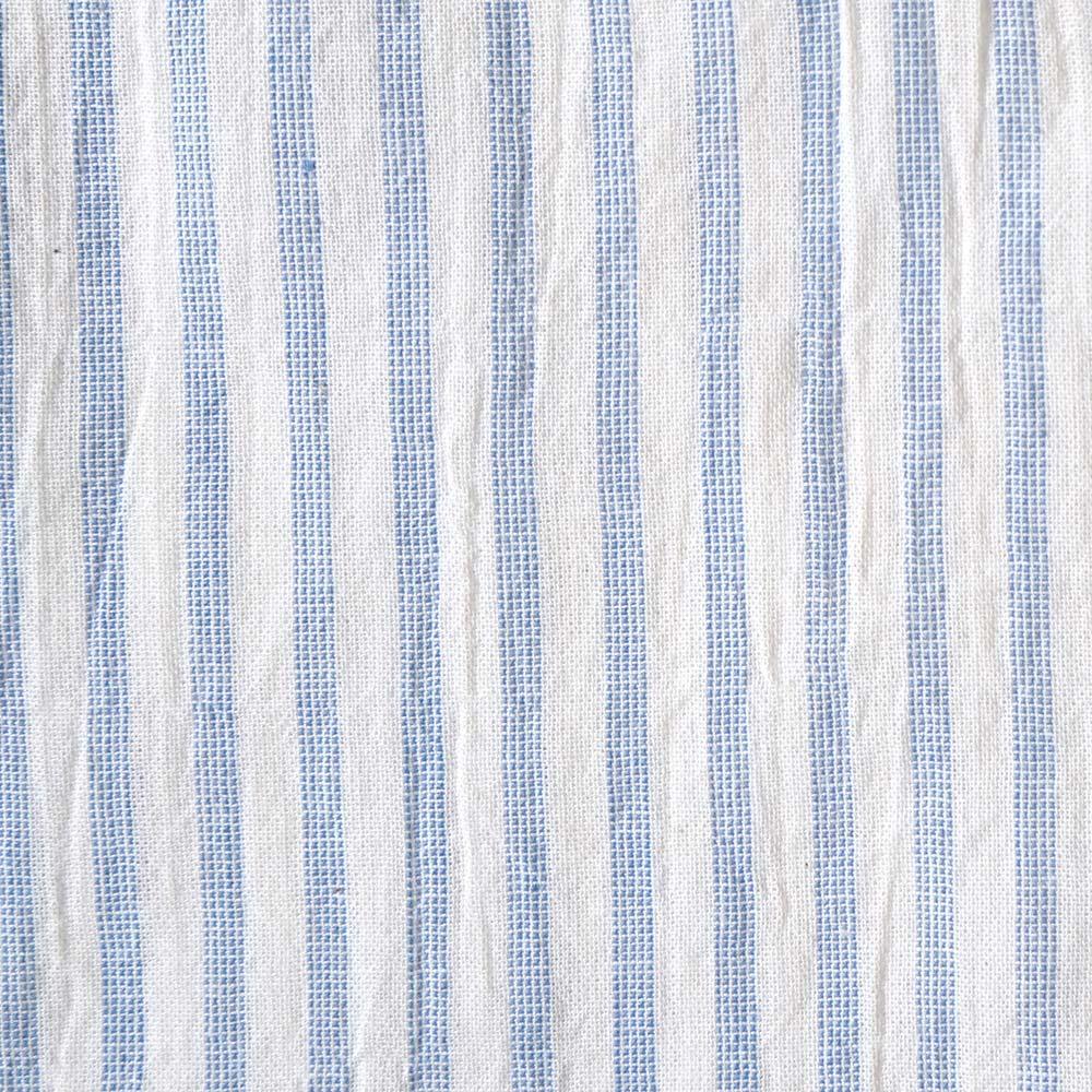 ドロップスリーブシャツ ブルーストライプ 80cm・90cm / 10mois(ディモワ)