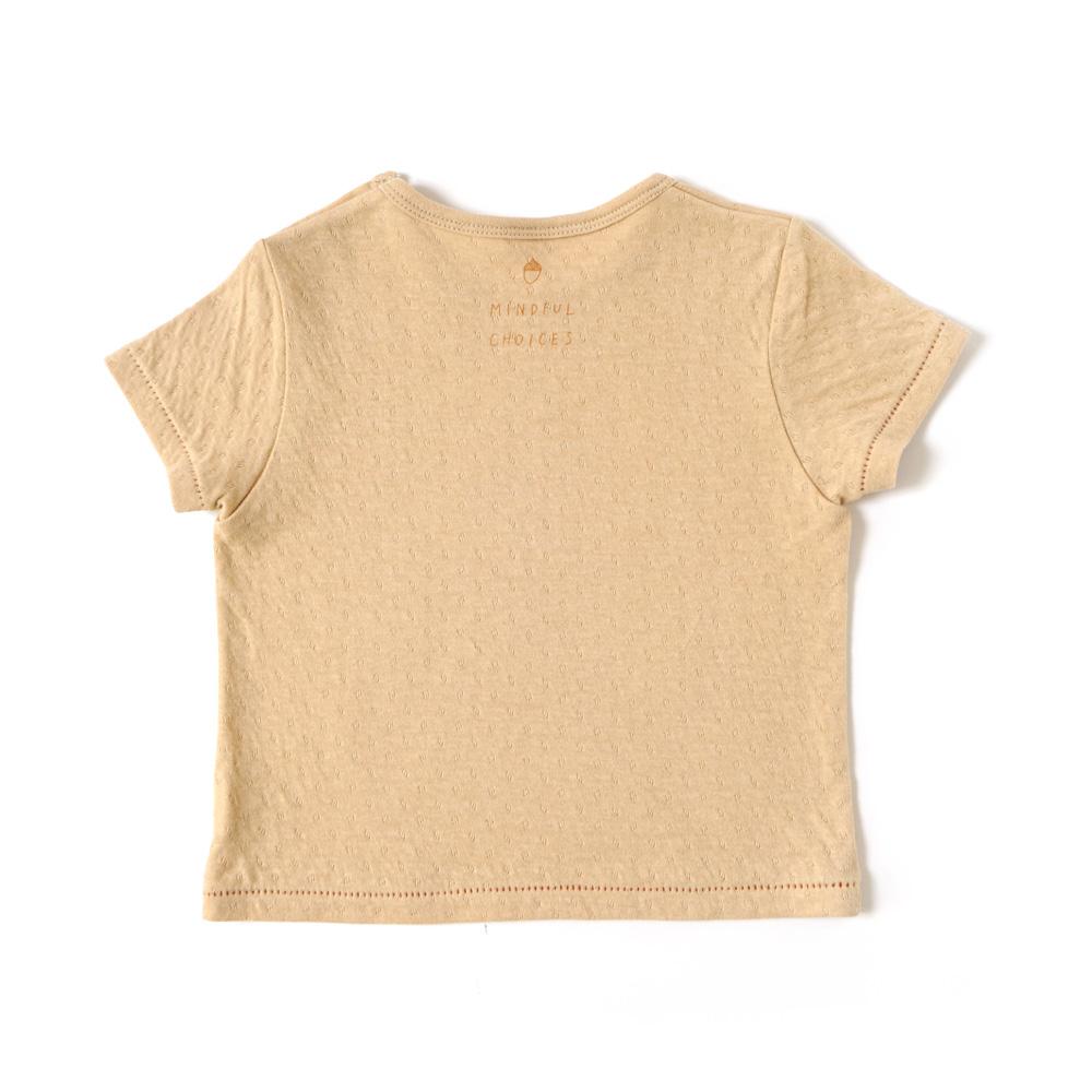 guri(ぐり) オーガニックコットン Tシャツ マスタード 80cm・90cm・100cm / Hoppetta plus