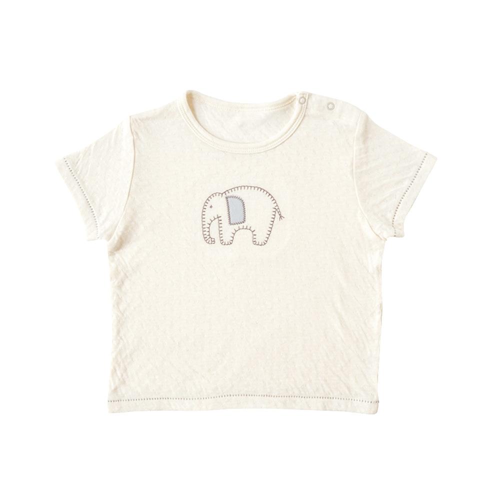 guri(ぐり) オーガニックコットン Tシャツ キナリ 80cm・90cm・100cm / Hoppetta plus
