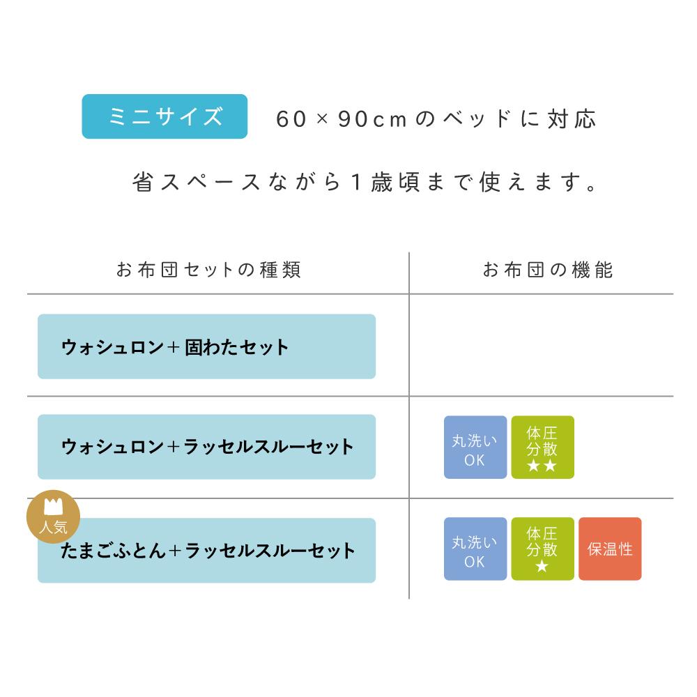 guri(ぐり) オーガニックコットンミニ布団セット / Hoppetta