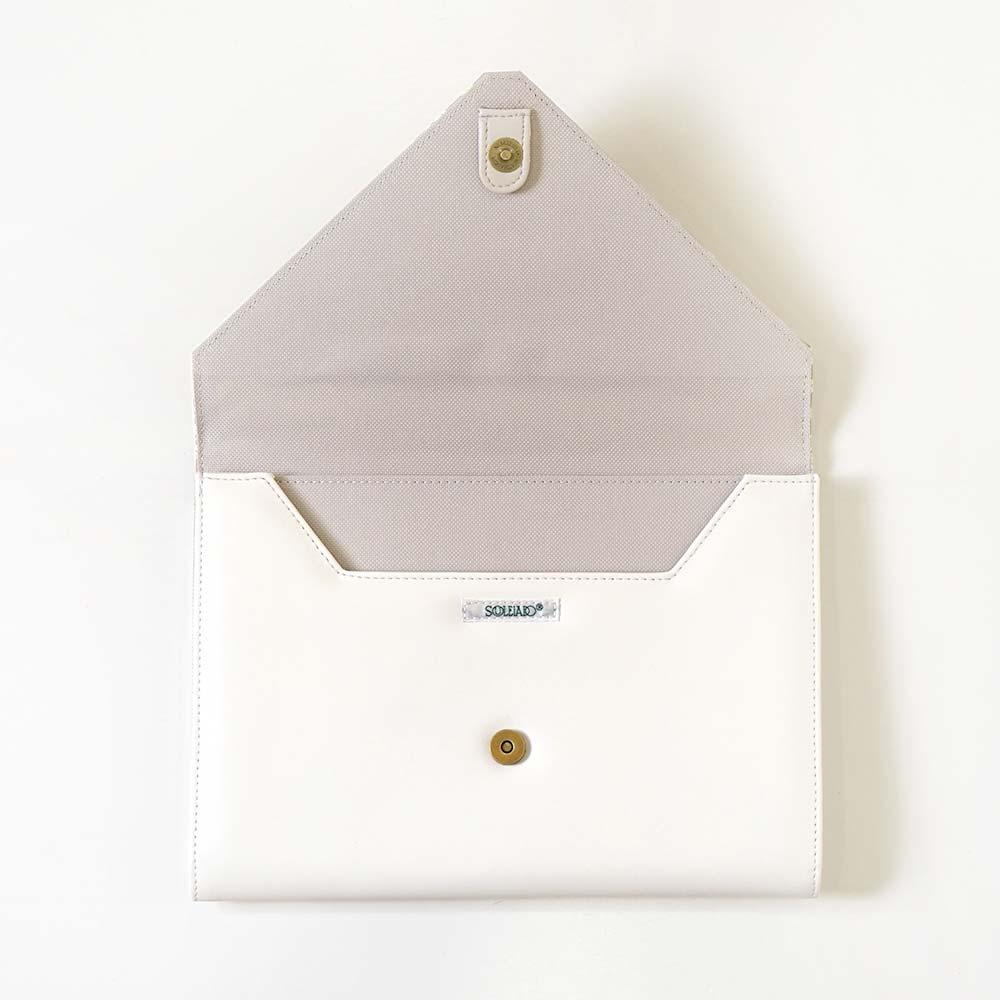 母子手帳ケース アーティチョーク オフホワイト / SOULEIADO