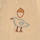 guri(ぐり) オーガニックコットン 2wayドレス(2wayオール) マスタード 50cm-70cm / Hoppetta plus