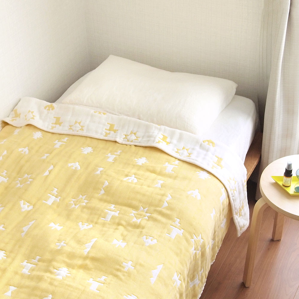 トーテム コットン×ウール ガーゼケット(大人サイズ)  ふくふくガーゼ(6重ガーゼ) / BOBO / 名入れ刺繍可