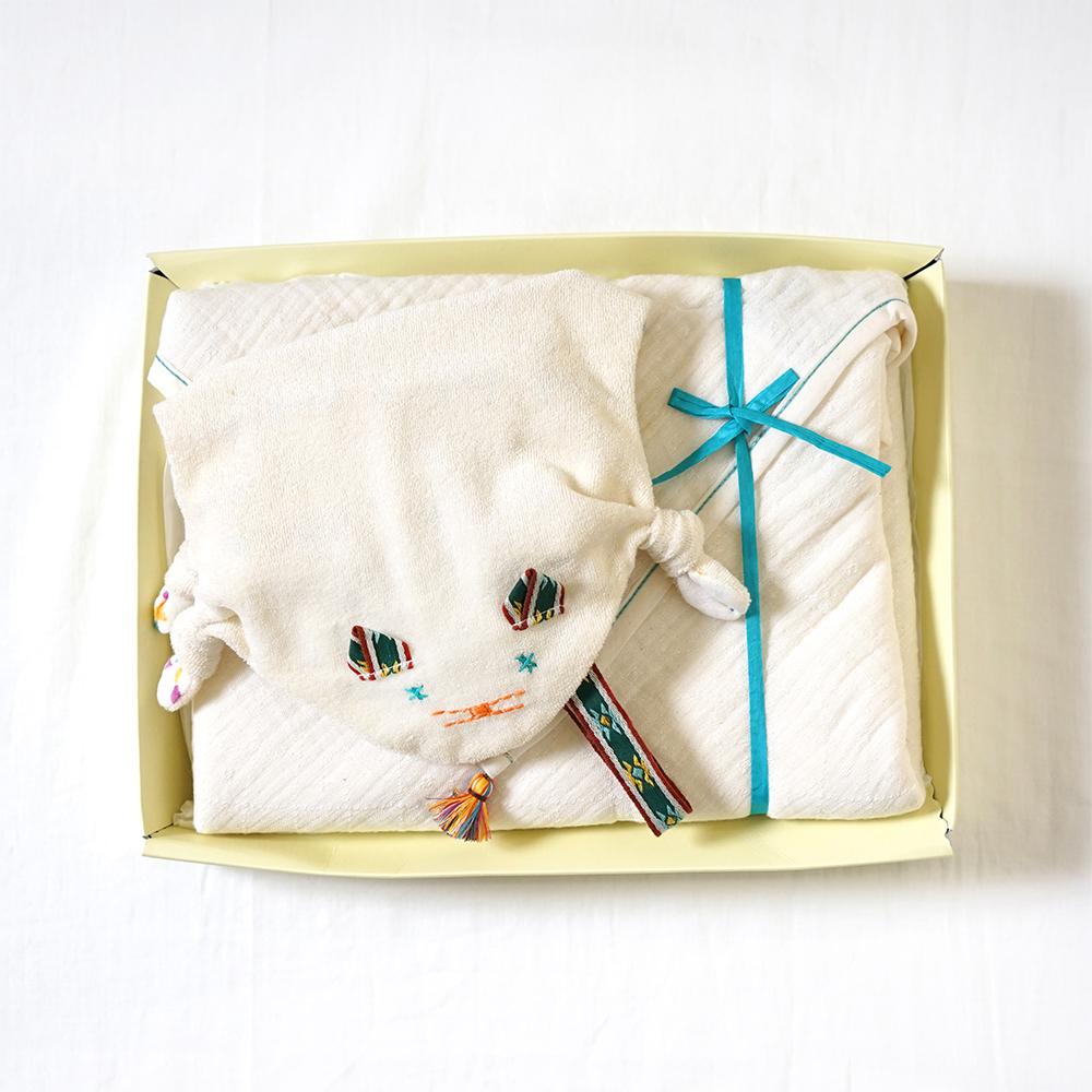 ほおずり人形・コットンテンセル3重ケット ギフトセット / BOBO / 出産祝い