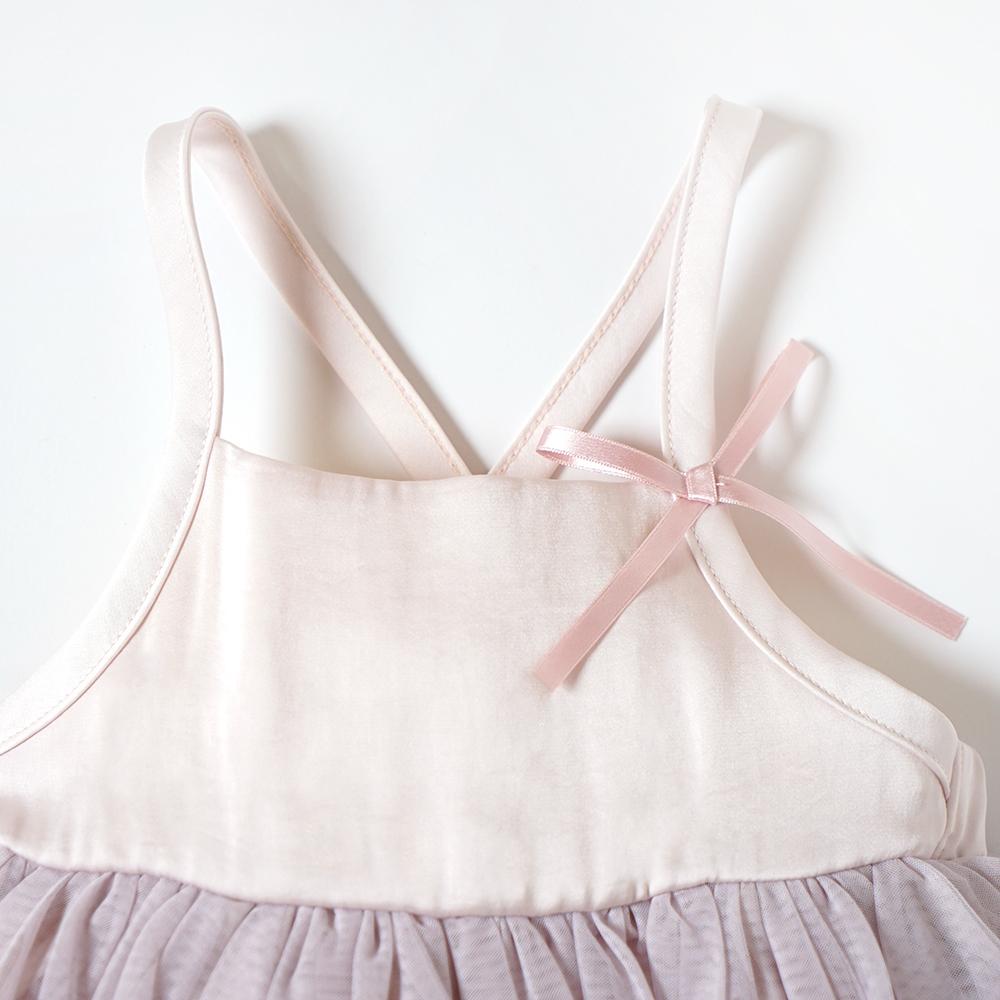 fluffy チュールキャミドレス ピンク 70-90cm・80-100cm / 10mois(ディモワ)