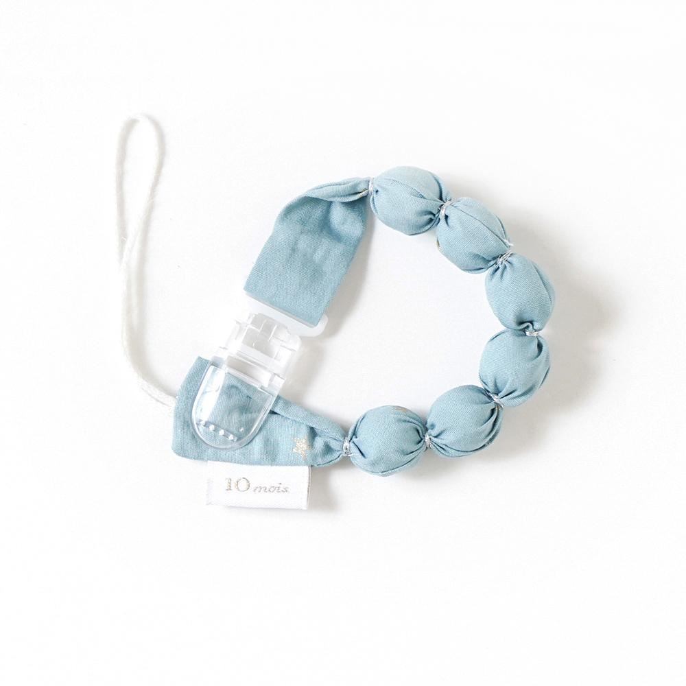 TEETHER(歯がため) クラウド ホルダー付き ブルー / 10mois(ディモワ)