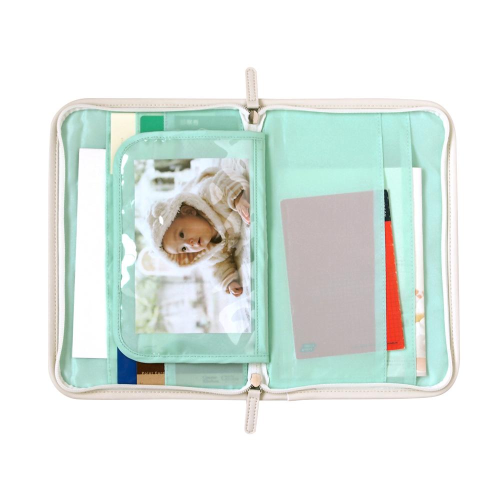 シャンピニオン オールサイズ対応 母子手帳ケース(ブルーサーフ) / Hoppetta/ スターチャーム対象商品