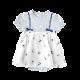 flower 刺繍キャミボディオール ブルー 70cm・80cm / Hoppetta