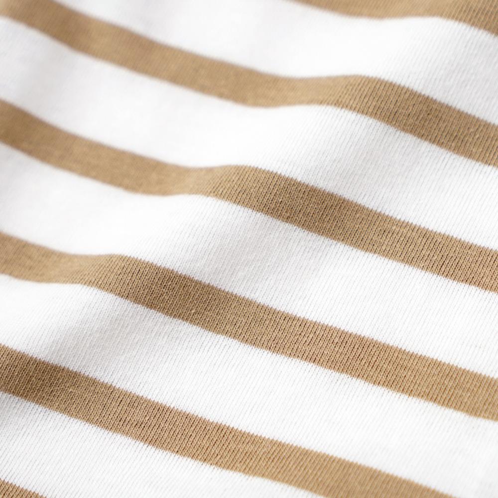 テープ配色ボーダーTシャツ ブラウン 80cm・90cm・100cm / Hoppetta