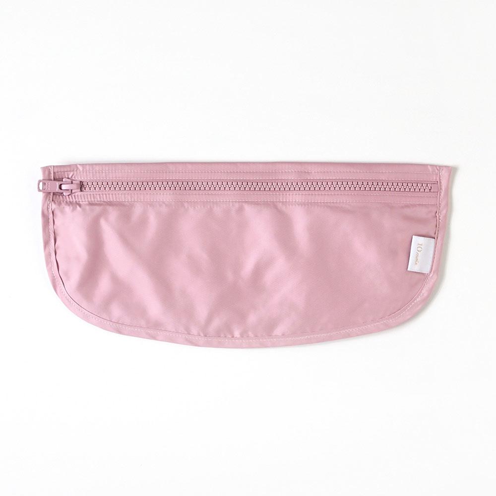帆布ギフトBAG お食事セット(袖なしポーチロン) ピンク / 10mois / 出産祝い / 名入れ刺繍可