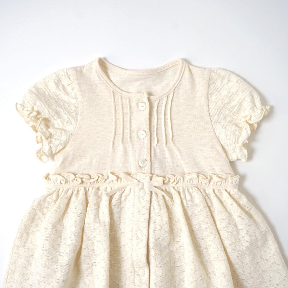 flower ジャガード2wayドレス(2wayオール) アイボリー 50-70cm / Hoppetta