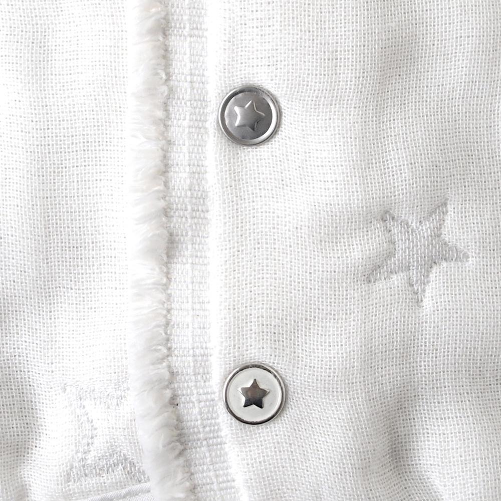 【1月末以降順次発送】ふくふくガーゼ(6重ガーゼ) 2wayスリーパー 袖付き / 10mois(ディモワ)