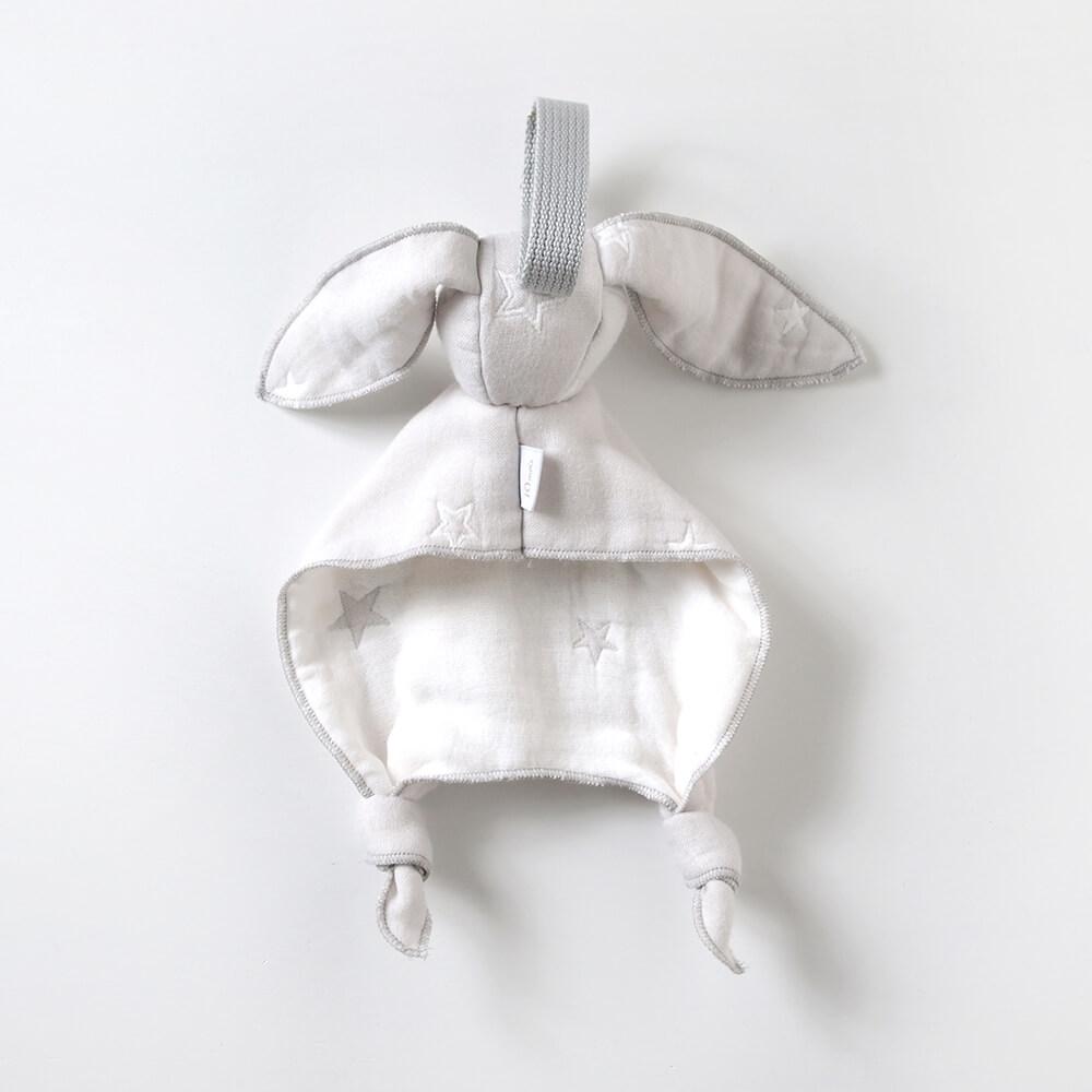 グレー mini me ベビートイ ふくふくガーゼ(6重ガーゼ) / 10mois(ディモワ) / 名入れ刺繍可