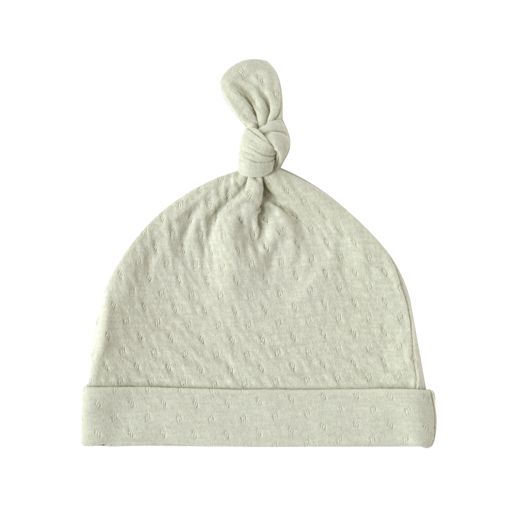 guri(ぐり) オーガニックコットン ベビー帽 グリーン / Hoppetta plus