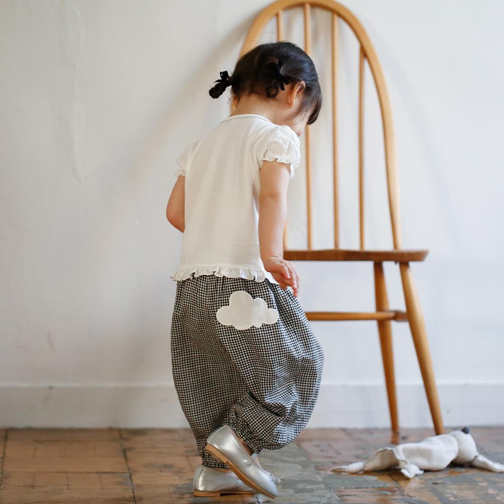 アウトレット フリルパフTシャツ ホワイト 90cm / 10mois(ディモワ) / ラッピング不可
