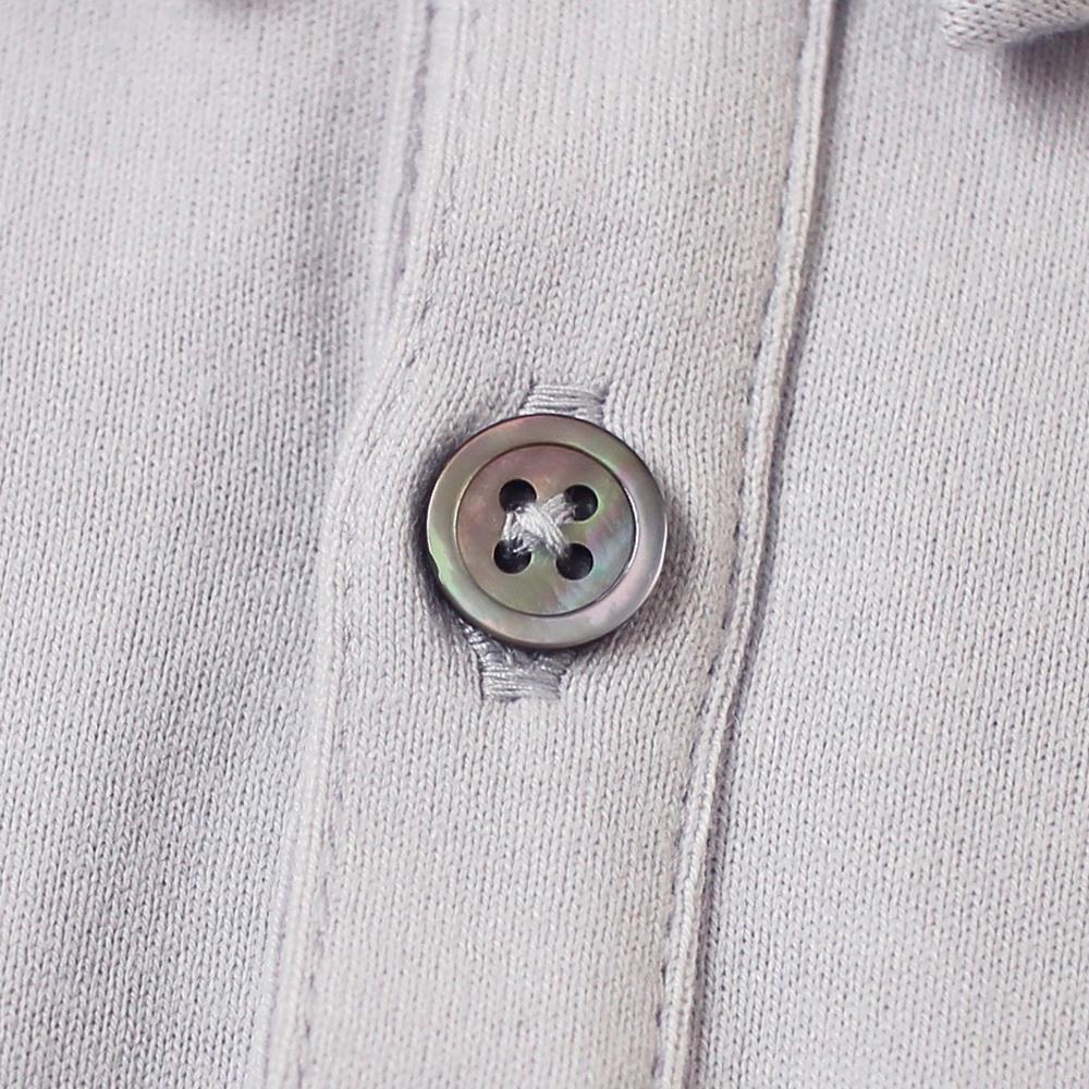 シャツ襟ショートオール グレー 70cm・80cm / 10mois(ディモワ)