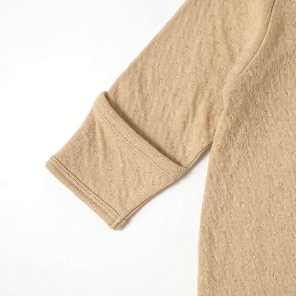 guri(ぐり) 2wayドレス&ベビー帽2点セット マスタード 50cm-70cm オーガニックコットン / Hoppetta plus