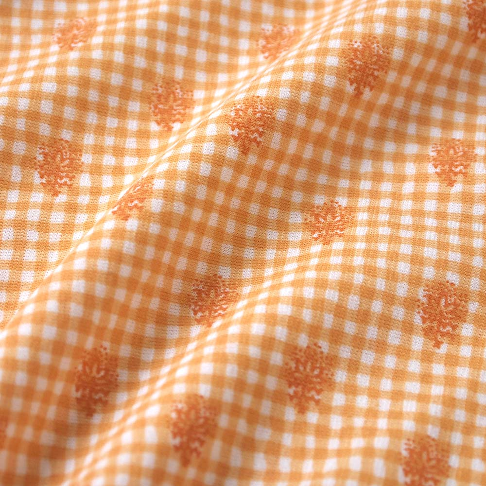 UVカット ベビーマント オレンジ(フード取り外し可)(新生児〜100cm) / SOULEIADO