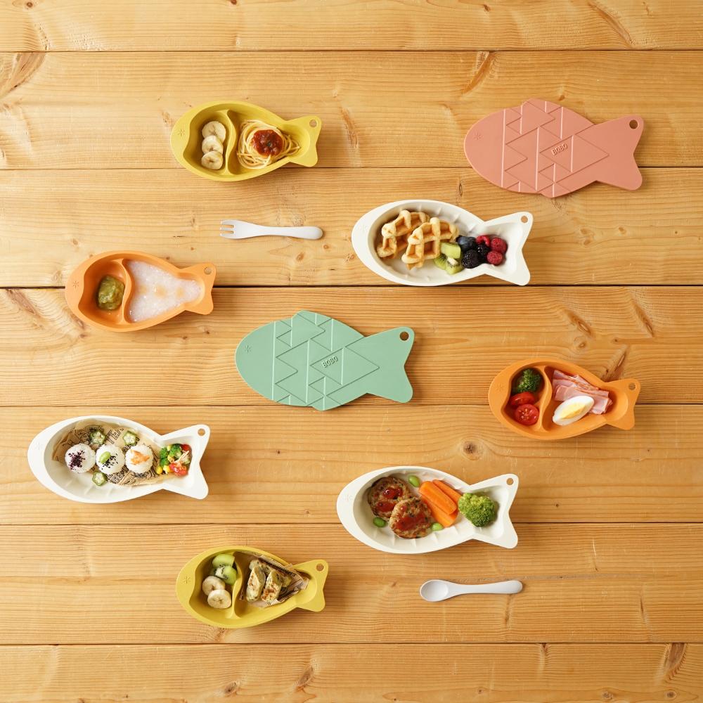 帆布ギフトBAG お食事セットとバスポンチョ ライトカーキ / BOBO