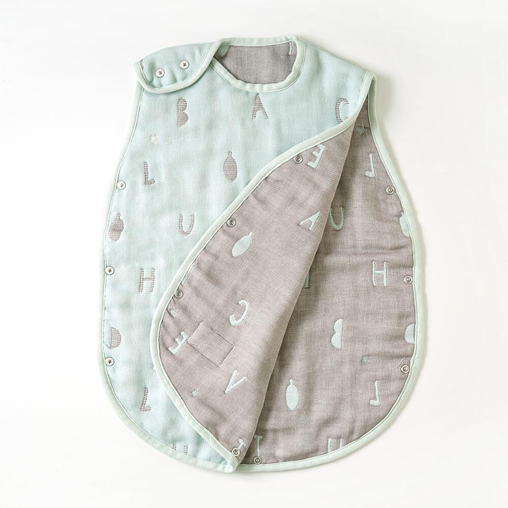 コットン×ウール スリーパー ベビーサイズ ふくふくガーゼ(6重ガーゼ)  / 10mois(ディモワ) / 名入れ刺繍可