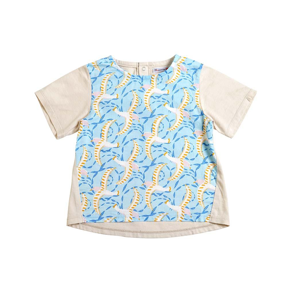Bird Tee サックス 80cm・90cm・100cm / Hoppetta