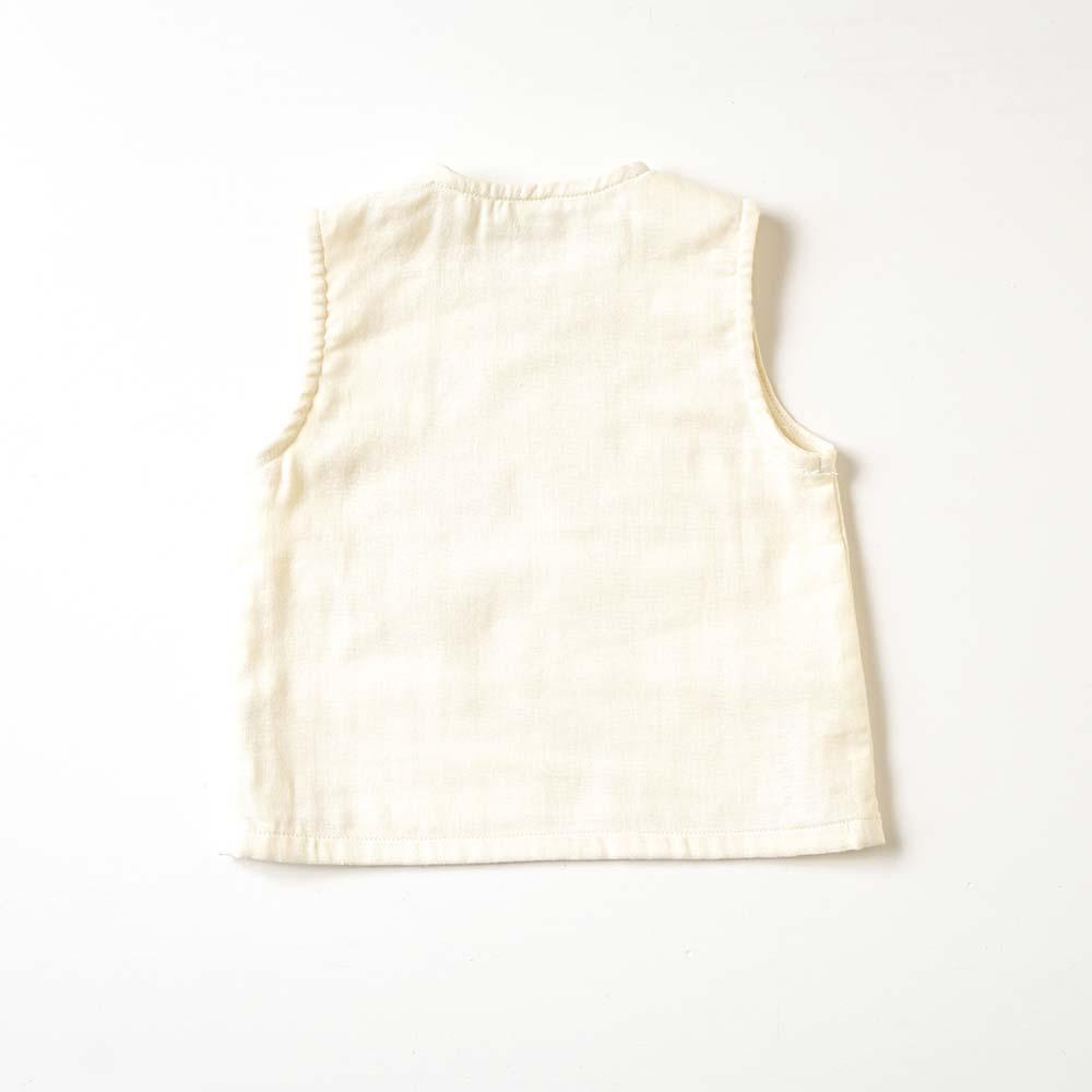 Bird刺繍セットアップ イエロー 70cm・80cm / Hoppetta