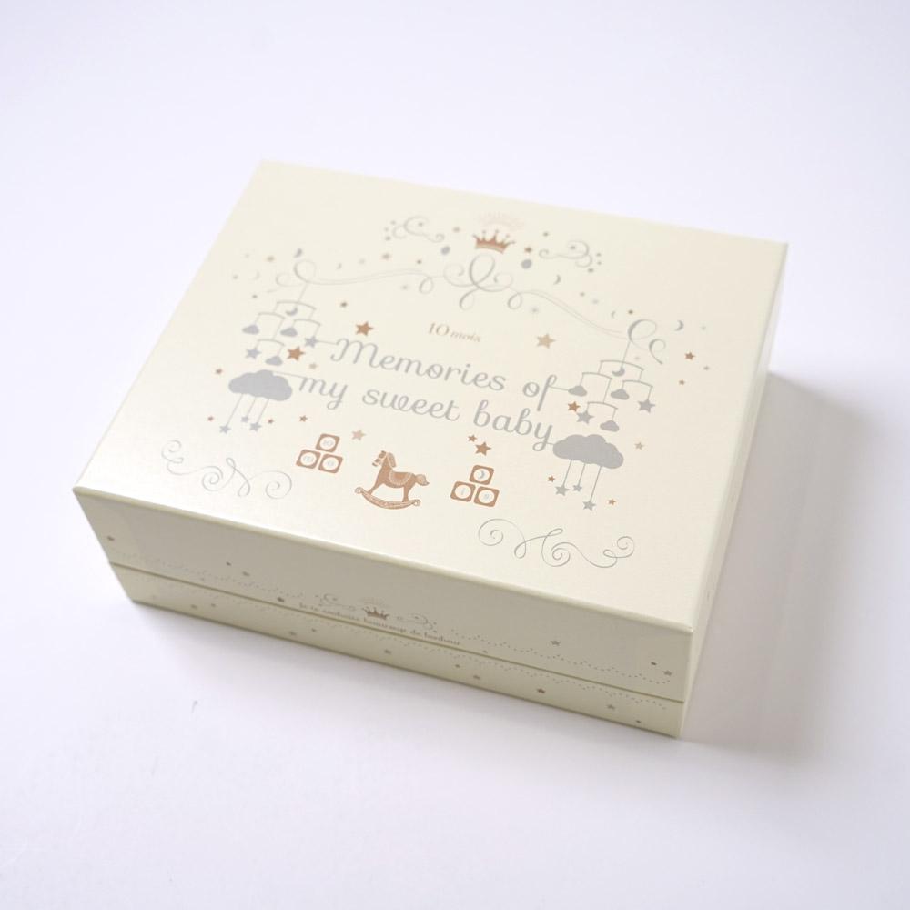 アニバーサリーボックス ビブ&ブルマ&がらがら ギフトセット チャーミングスマイル / NAOMI ITO / 出産祝い