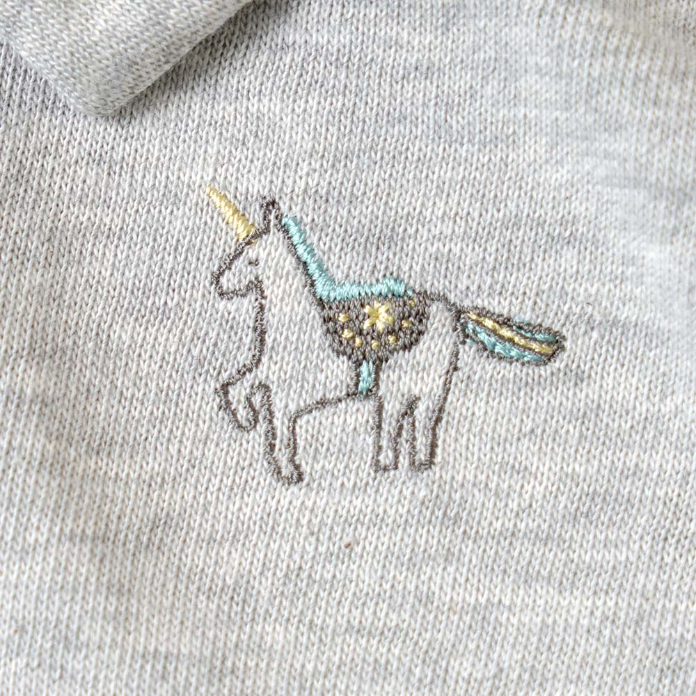 unicornニットボディ グレー 70cm・80cm / 10mois(ディモワ)